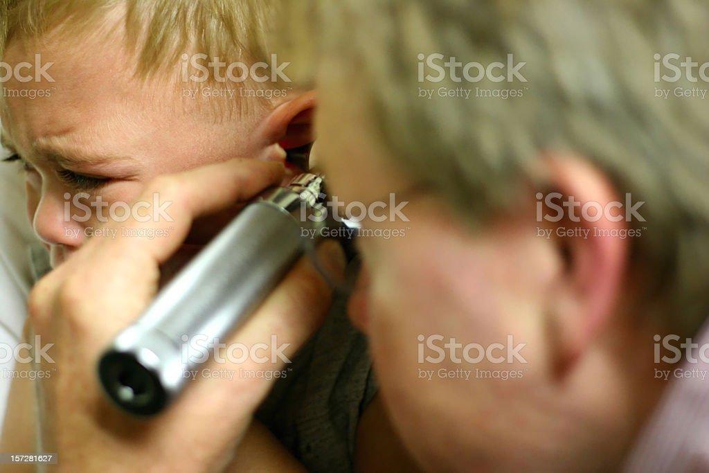 Ear Exam 1 stock photo