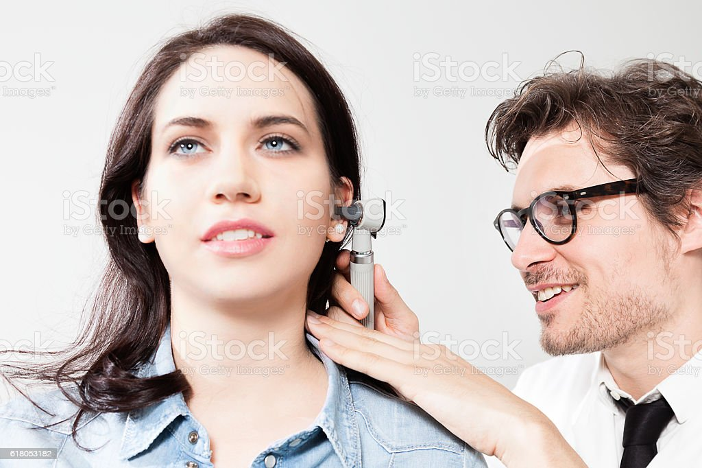 Ear Nose and Throat Examination stock photo