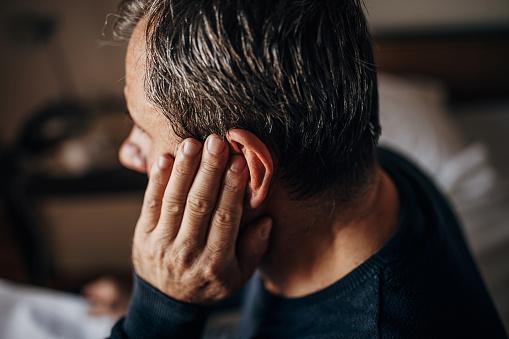 ear pain, older man
