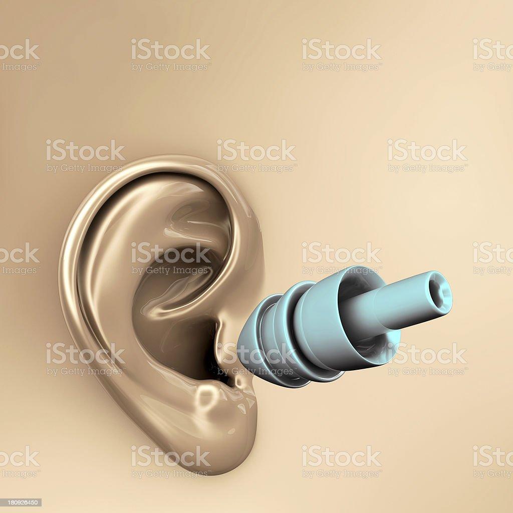 Ear plug - 3d rendered illustration royalty-free stock photo