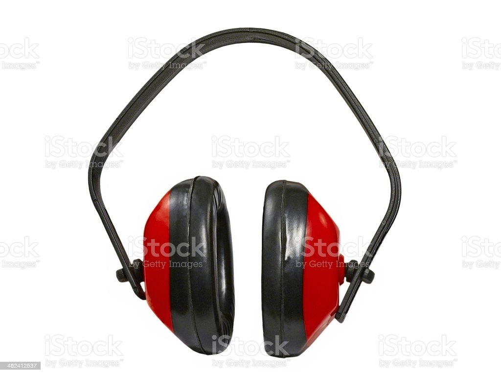 Ear protection defenders.Isolated. stock photo