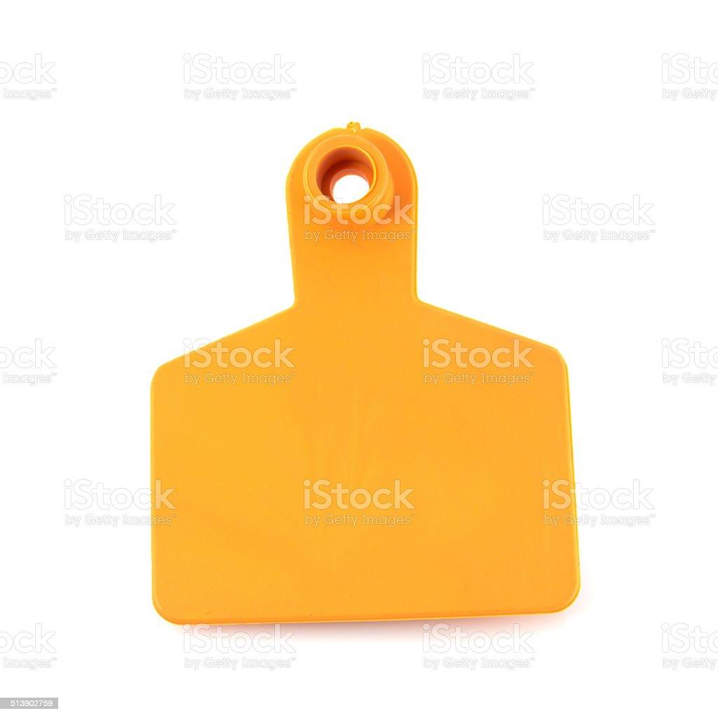 Ear Tags for Farm Animals stock photo