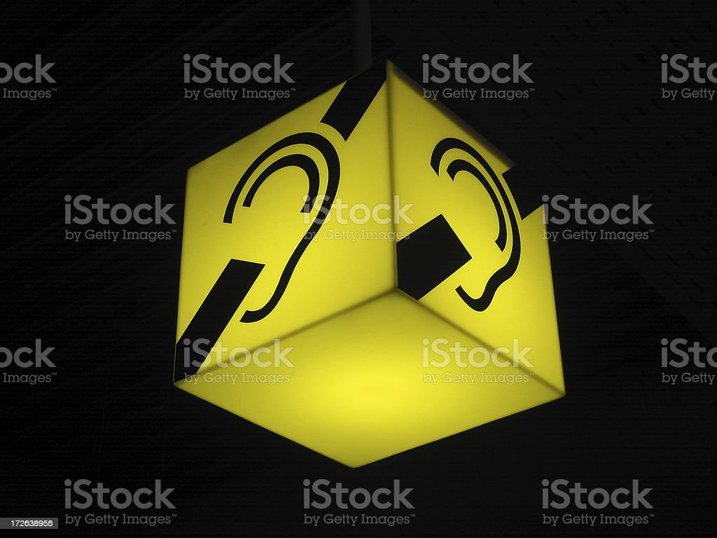 Ear With Line Through royalty-free stock photo