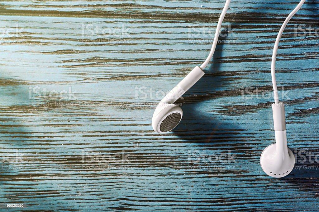 Earbud Headphones stock photo