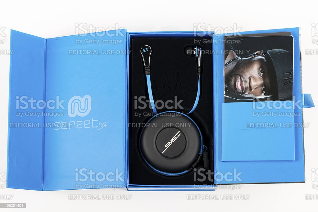 Earbuds from SMS 50 Cent royalty-free stock photo