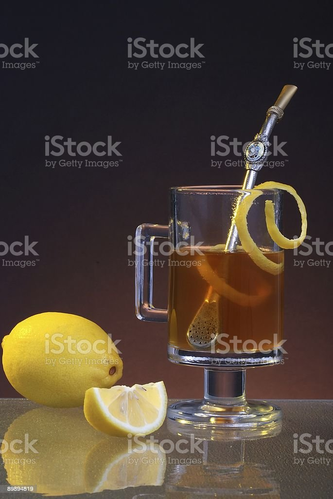 Earl Gray Tea with Sip Strainer royalty-free stock photo