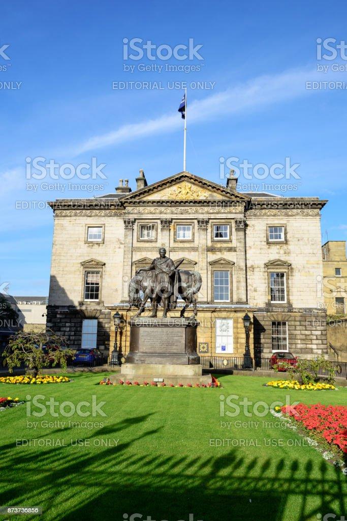 Earl of Hopetoun Statue, Dundas House, Edinburgh stock photo