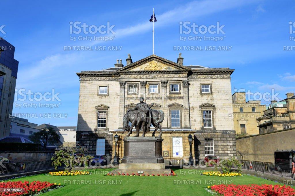 Earl of Hopetoun Statue, Dundas House, Edinburgh, Scotland stock photo