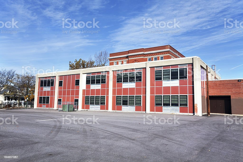 Earle Elementary School in West Englewood, Chicago royalty-free stock photo