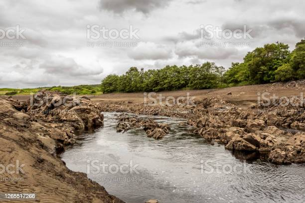 Photo of Earlstoun Loch, due to the draining Earlstoun Dam on the Galloway Hydro Scheme