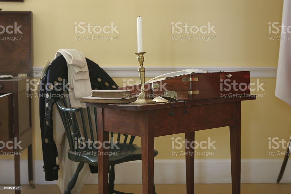 Early 19th century British desk and chair royalty-free stock photo