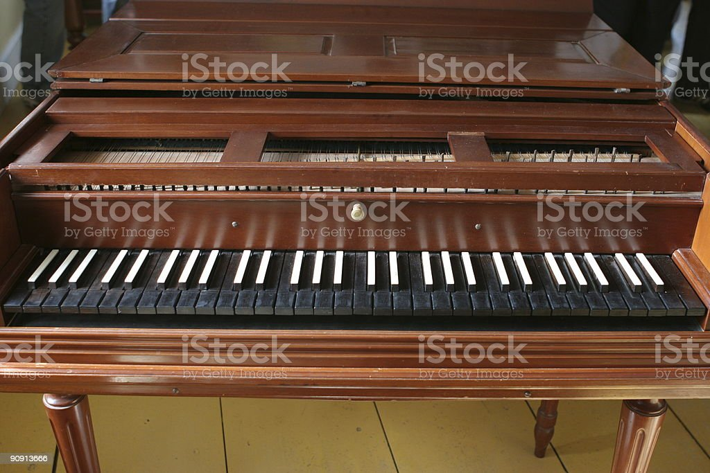 Early 19th century piano in a British fort royalty-free stock photo