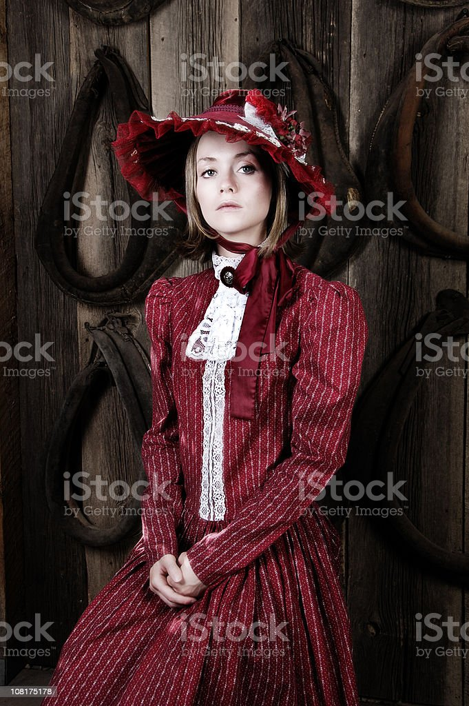 Early American Woman stock photo