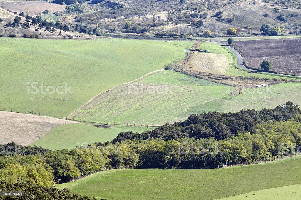 Early autumn aerial landscape royalty-free stock photo