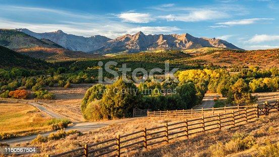 Early Autumn Morning - Dallas Divide near Ridgway Colorado
