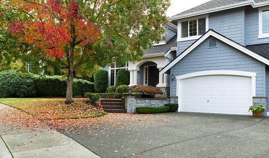 istock Early autumn with modern residential single family home 494094318