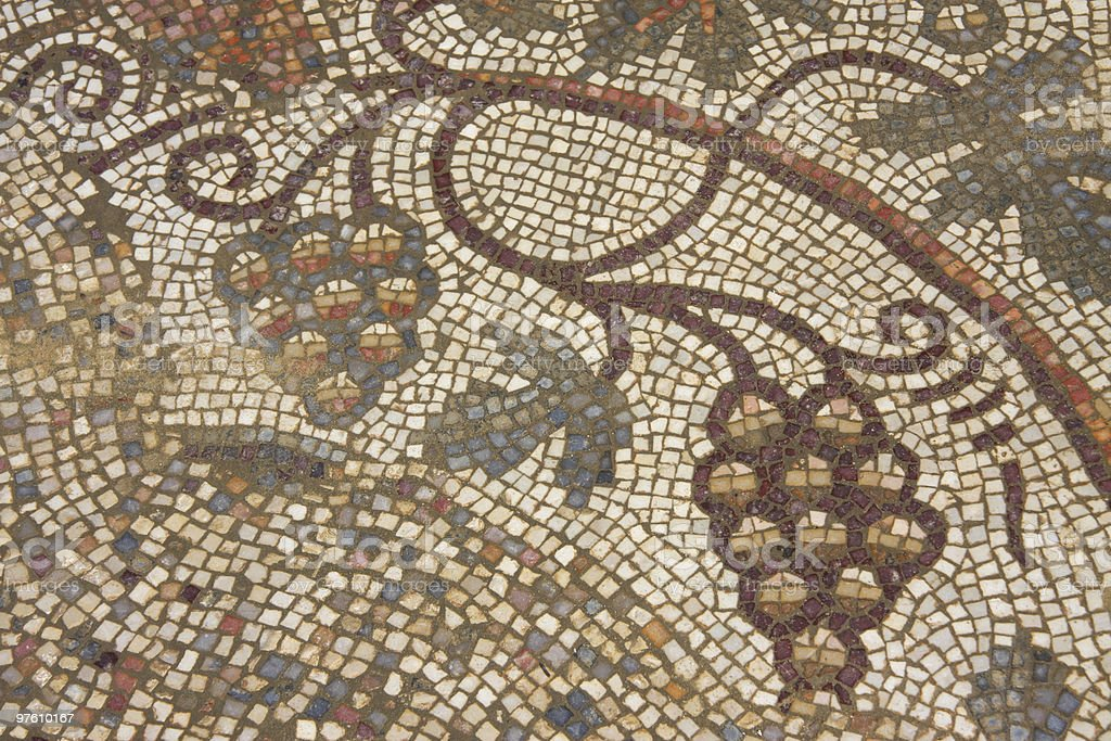 Early Byzantine mosaic floor royalty-free stock photo