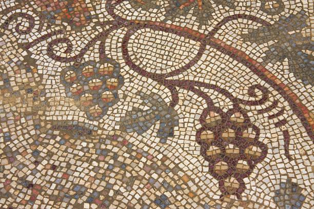 Early Byzantine mosaic floor stock photo