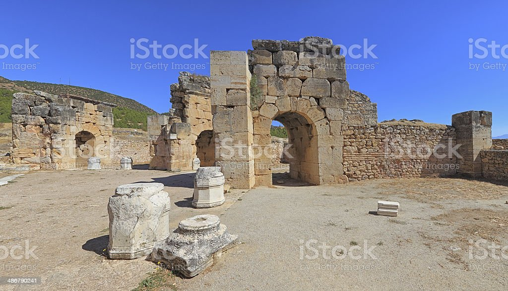 Early Church Hierapolis - Panoramic royalty-free stock photo