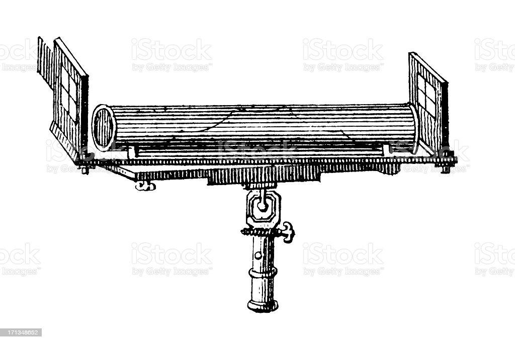 Early dumpy level | Antique Scientific Laboratory Equipment Illustrations stock photo