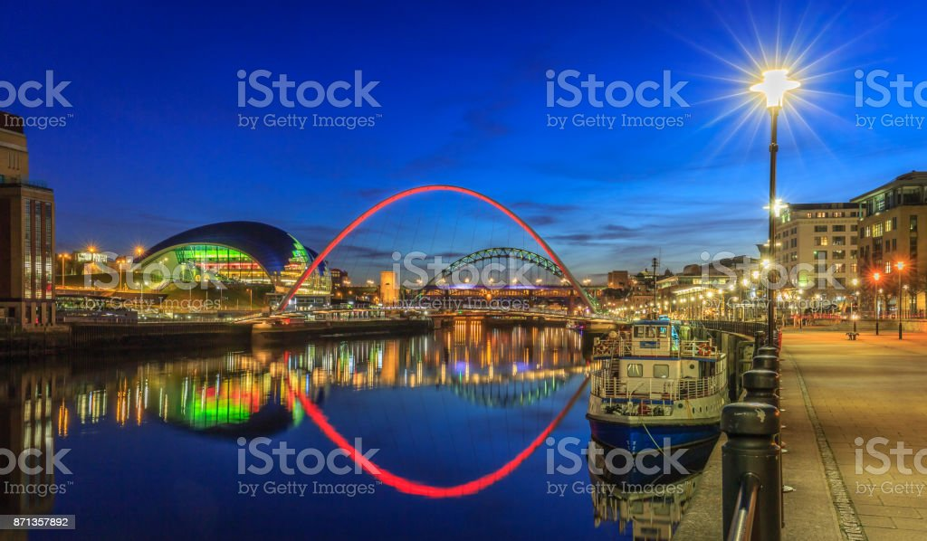 Early evening on Newcastle Quayside stock photo