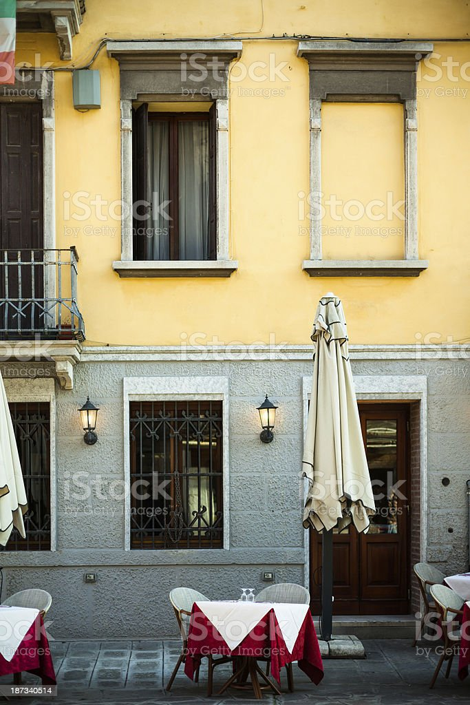 Early Evening Restaurant royalty-free stock photo