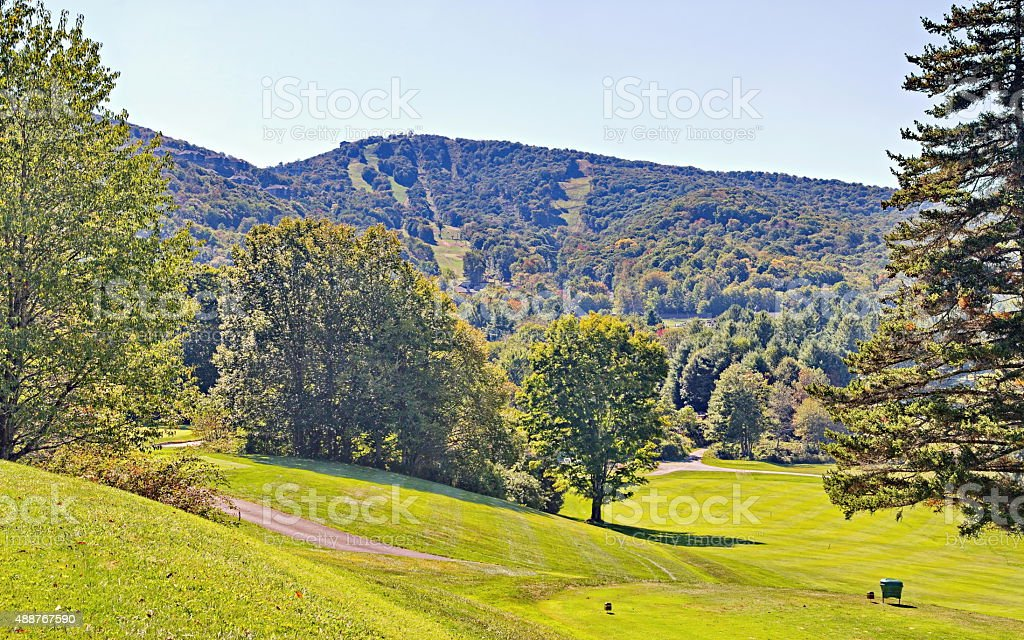 Early Fall on Sugar Mountain stock photo