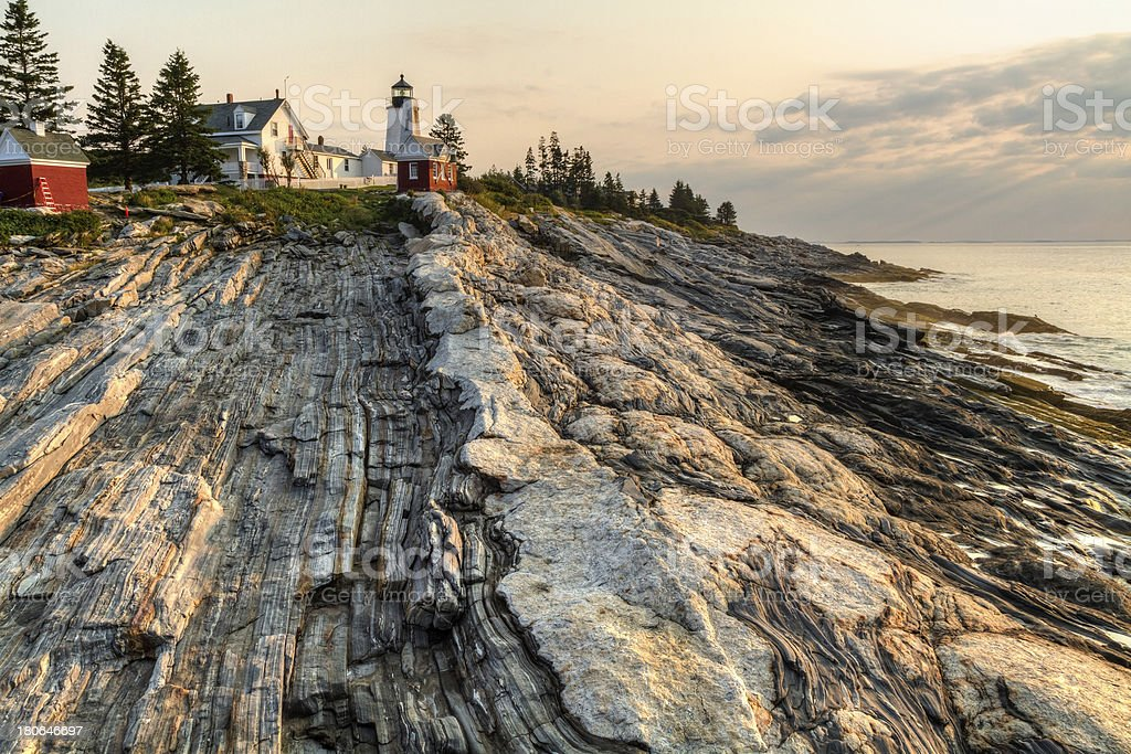 Early Glow on Pemaquid Point stock photo
