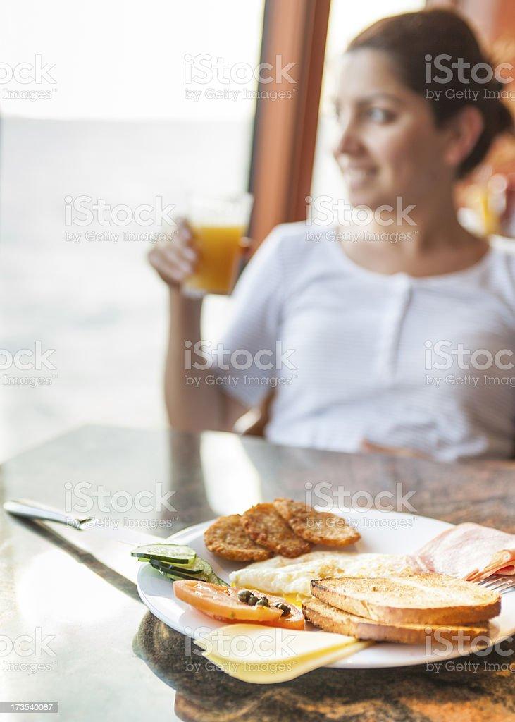 Early Happy Breakfast royalty-free stock photo