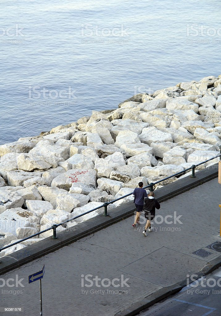 Early jogging royalty-free stock photo