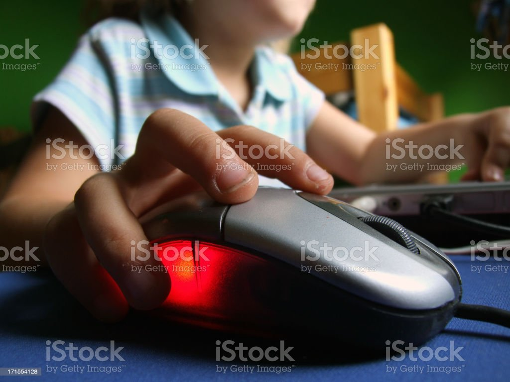 Early Learning on the internet royalty-free stock photo
