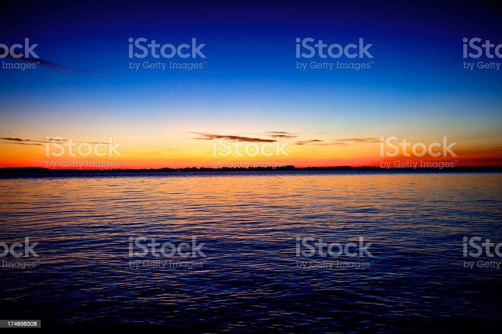 Early Maryland Sunrise on Chesapeake Bay stock photo