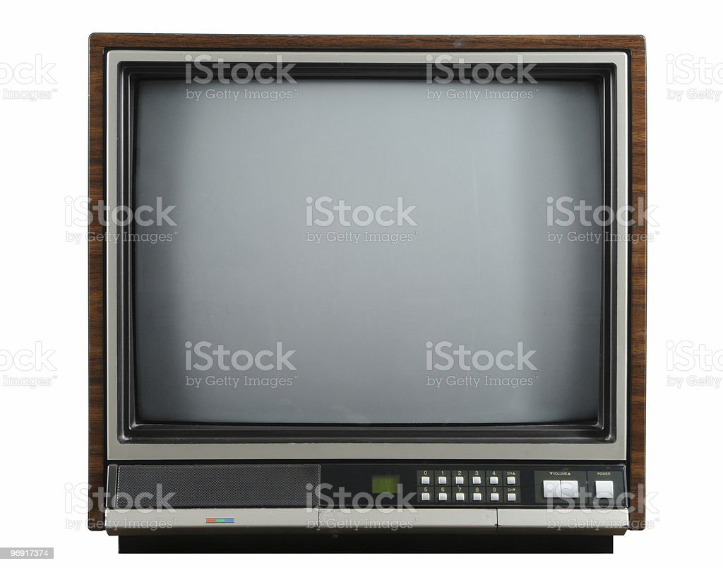 Early model square vintage television set royalty-free stock photo