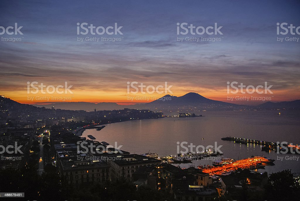 Early Moring over Naples stock photo