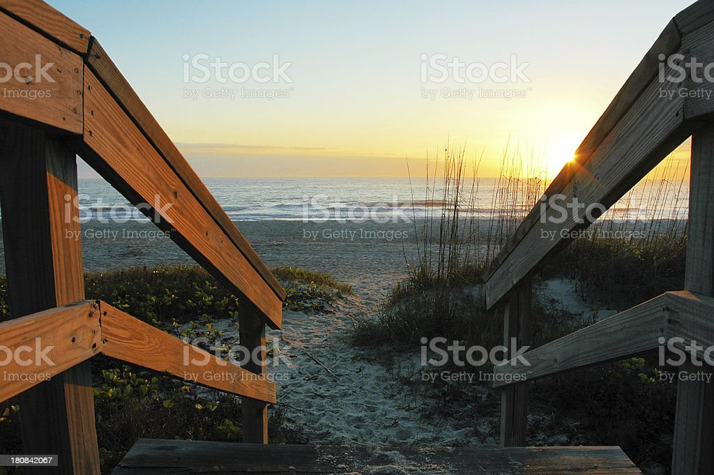 Early Morning at the Beach on Amelia Island stock photo