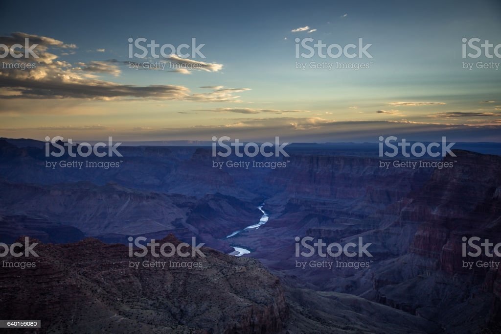Early Morning at the Grand Canyon stock photo