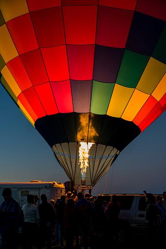 Albuquerque, New Mexico - USA - Oct 4, 2014: Early morning balloon launch at the Albuquerque International Balloon Fiesta