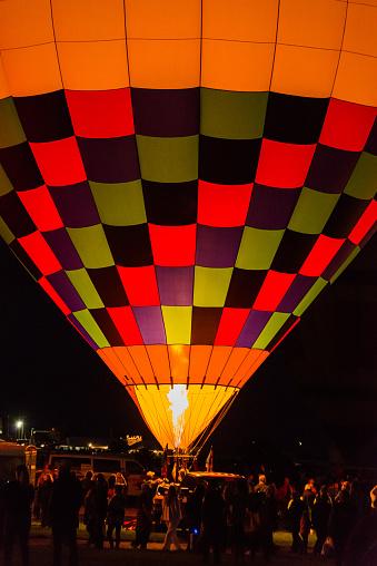 Albuquerque, New Mexico - USA - Oct 4, 2015: Early morning balloon launch at the Albuquerque International Balloon Fiesta,