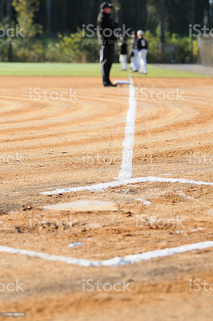Early morning baseball team warmup royalty-free stock photo