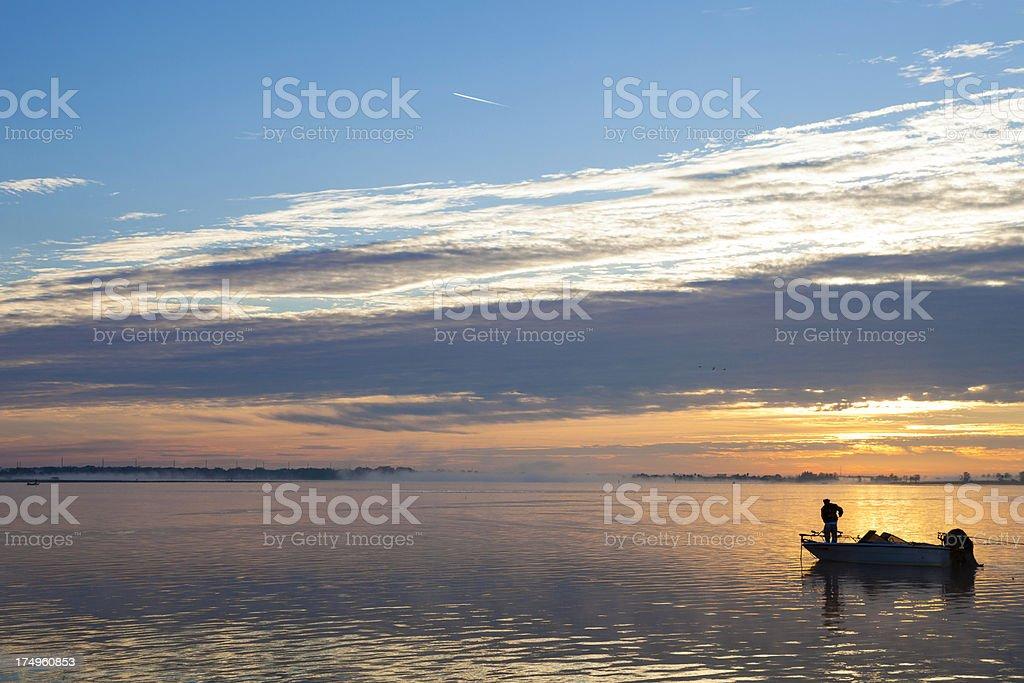 Early Morning Bass Fishing on Lake Toho stock photo