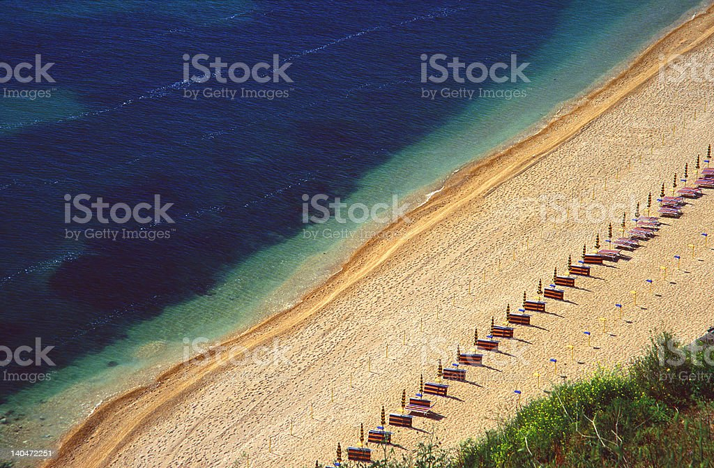 early morning beach stock photo