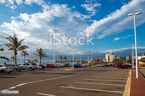istock Early Morning Beachfront Coastal Landscape in Durban 843960898
