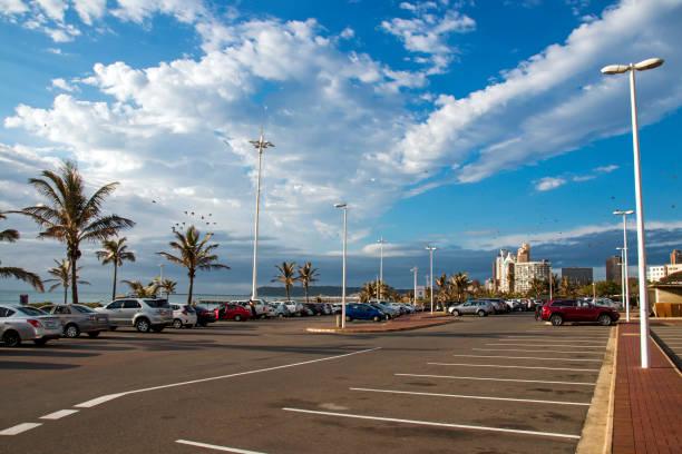Am frühen Morgen am Strand Küstenlandschaft in Durban – Foto