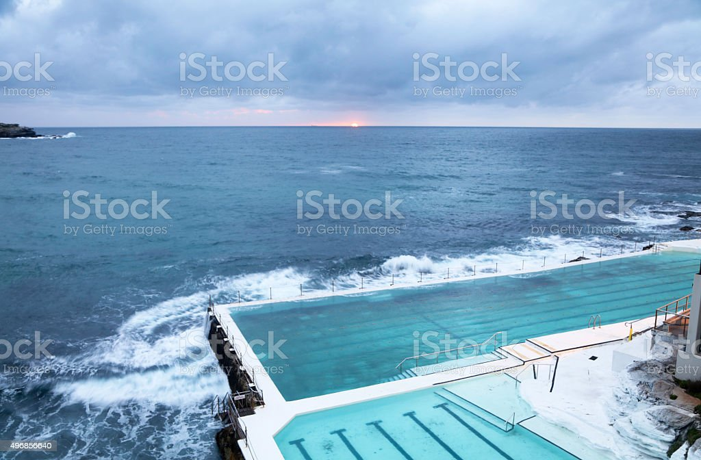 Early morning Bondi stock photo