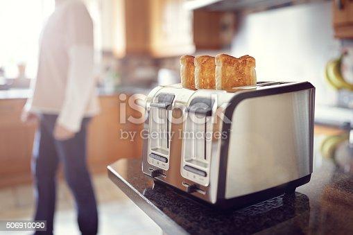 istock Early morning breakfast toast 506910090