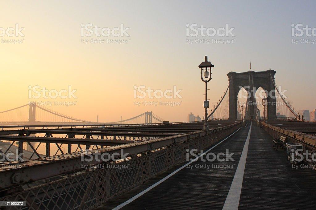 Early Morning Brooklyn Bridge stock photo