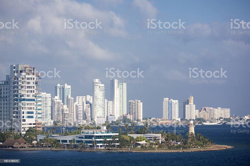 Early Morning Cartagena Skyline royalty-free stock photo