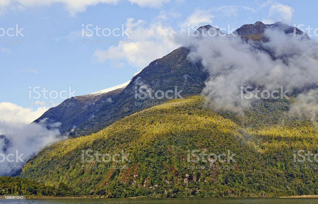 Early morning clouds on an Ocean Bay royalty-free stock photo