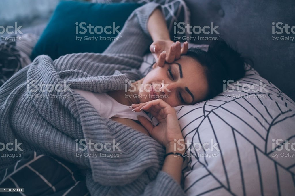 Early morning comfort stock photo