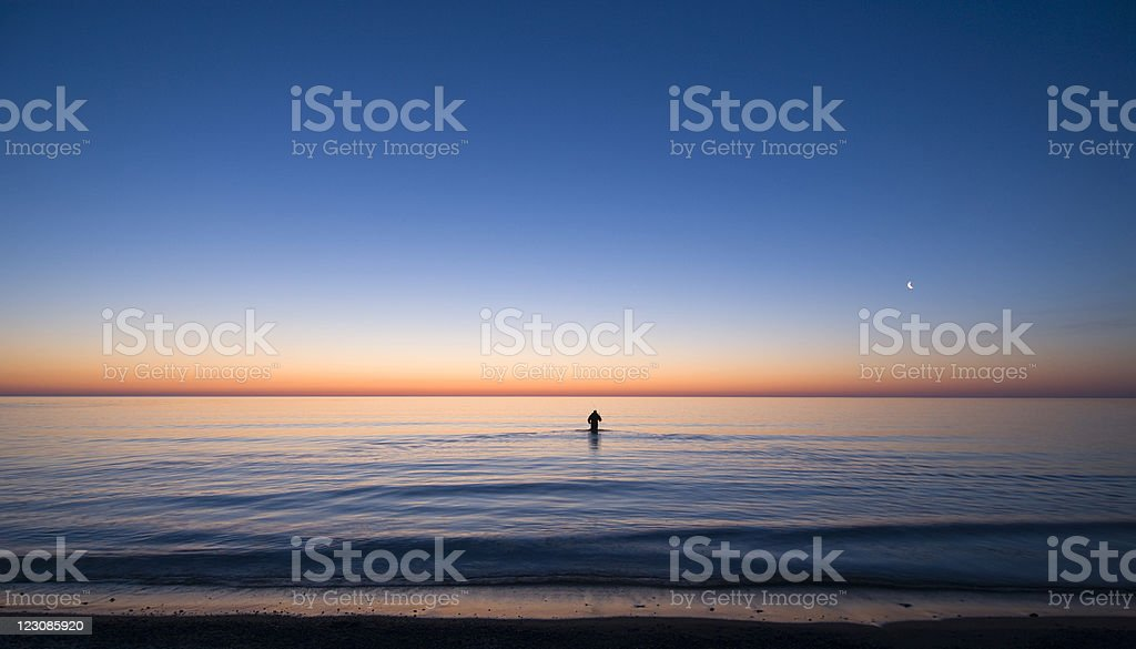 Early Morning Fisherman royalty-free stock photo